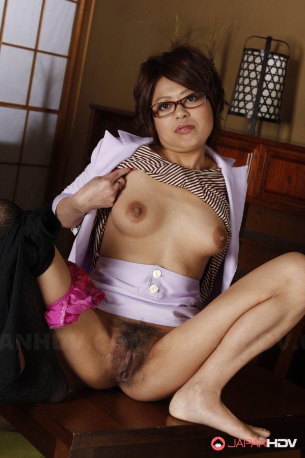 Only Asian Sexy Lady Kumiko Aida Shows Her Hairy Pornvibe 1